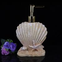 树脂装洗发水按压泡沫洗手液盒沐浴露皂乳液器分装瓶子欧式酒店 沙滩贝壳 瓶子