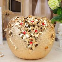 客厅摆设工艺品结婚礼品批发陶瓷电镀家居装饰品摆件
