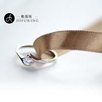 戴福瑞 蝶恋银戒指