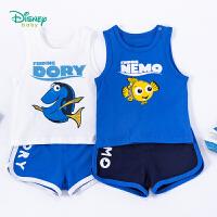 【3件3折到手价:51.3】迪士尼Disney童装 男童套装运动肩开背心纯棉短裤2件套2020年夏季新品宝宝薄款清凉夏