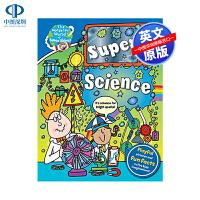 英文原版 超级科学:令人毛骨悚然的发现和疯狂的装置 精装 The Wonderful World of Simon Ab