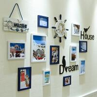 照片墙装饰相框墙欧式现代简约相片墙创意个性组合地中海相框挂墙