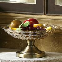 大号欧式玻璃水晶现代果盘客厅水果盘家用简约创意茶几摆件摆设