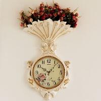 现代欧式挂钟客厅大气家用时钟创意挂表玄关装饰静音石英钟墙壁钟 20英寸