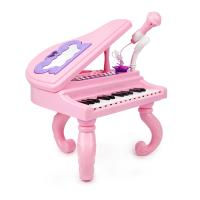 女孩礼物3-6-12岁带话筒音乐乐器 儿童钢琴玩具宝宝电子琴键初学者