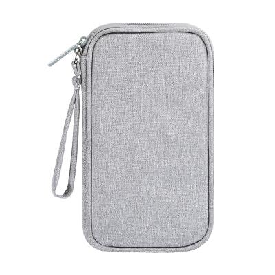 充电宝器头收纳包罗马仕移动电源线数据线便携保护套盒子小米10000品胜羽博20000毫安 麻灰色