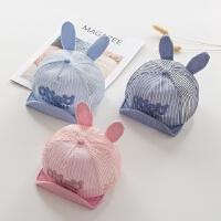 夏季婴儿帽子6-12个月薄款鸭舌帽网眼透气夏天宝宝遮阳帽子男女童