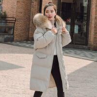 棉衣女装2018新款冬季羽绒加厚外套中长款韩版学生面服棉