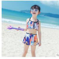 分�w三件套甜裙式舒�m游泳衣中大童女童泳�b�和�可�垌n版女孩����