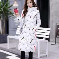 2018秋冬季新款大码羽绒女装中长款过膝修身棉衣加厚棉袄外套