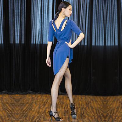 拉丁舞服装女舞跳舞蹈练功服套装连衣裙