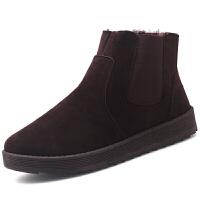 冬季棉鞋男加绒男士雪地靴男鞋休闲中高帮加厚保暖马丁靴棉短靴子软底