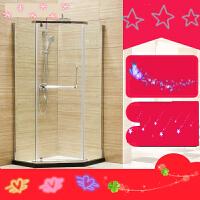 钻石淋浴房定制 304不锈钢整体隔断简易卫生间洗浴室玻璃浴屏 m7f