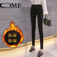 加绒加厚打底裤女外穿秋冬季新款保暖黑色小脚铅笔魔术棉裤子