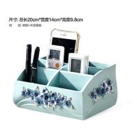 遥控器收纳盒创意客厅桌面收纳盒欧式化妆品收纳盒整理盒