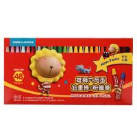?雄狮学生48色儿童油画棒36色六角形美术粉蜡笔 24色涂鸦画笔?