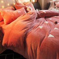 冬季加厚双面法兰绒四件套床上用品网红小仙女法莱珊瑚绒床单被套 四件套-1.5m〔5英尺〕床【注:适合200*23