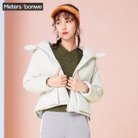 美特斯邦威棉服女短款冬装新款廓形ins棉衣小个子外套韩版P