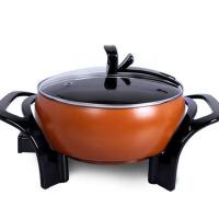 韩式电热锅不粘锅家用学生电煮锅电火锅 褐色