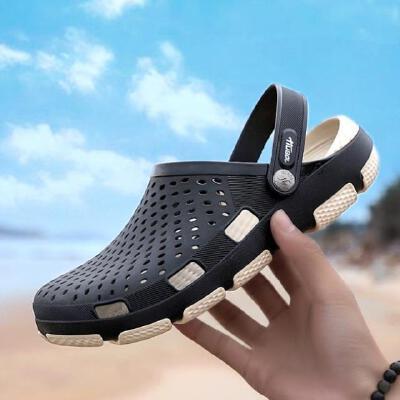 洞洞鞋男士凉鞋男拖鞋男2019新款外穿拖鞋男夏室外潮流包头凉鞋防滑软底沙滩鞋0006