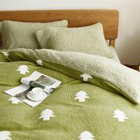 秋春秋季四件套加厚保暖短毛绒天鹅绒水晶绒珊瑚绒被套床单床笠