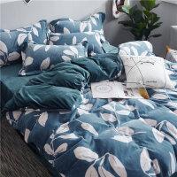 珊瑚四件套牛奶绒加厚冬季法兰绒双面保暖宝宝绒床的被套床上用品
