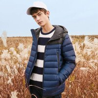 美特斯邦威羽绒服男士2017冬装新款休闲短款外套学生韩版商场款