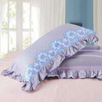 伊迪梦家纺 全棉枕套单品 高支高密纯棉斜纹 环保印染不易褪色 一色两款信封HC347