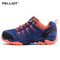 法国PELLIOT户外登山鞋男女防滑秋冬登山徒步鞋儿童牛皮户外鞋