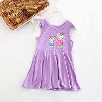 儿童连衣裙女童宝宝睡裙 薄款背心短裙夏季儿童裙
