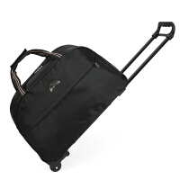 短途旅行包拉杆包手提行李箱包男女旅游旅行袋登机箱包手拖 黑色 拉杆包