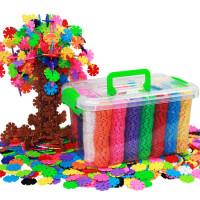 ?积木雪花片大号拼插1-2男女孩儿童玩具3-6周岁1000片?