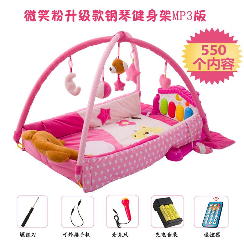 新生儿玩具音乐游戏毯脚踏钢琴婴儿健身架器爬行垫3-12个月0-1岁 发货周期:一般在付款后2-90天左右发货,具体发货时间请以与客服协商的时间为准