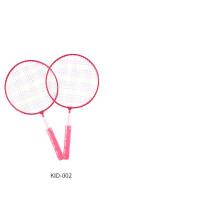 儿童羽毛球拍3-12岁宝宝球拍初级幼儿园小学生小孩拍子玩具羽毛球 粉红色 买一送七 成品拍