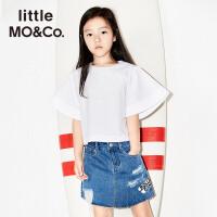 littlemoco女童纯色百搭特色宽大袖子套头上衣KA172TOP113 moco