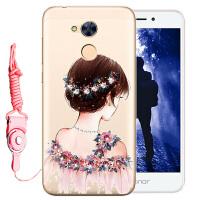 华为荣耀畅玩6A手机套DLI-AL10手机壳DLI-TL20保护套硅胶软套水钻
