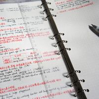 [愿画]B5九孔PP磨砂活页本记事本手账笔记本课堂笔记