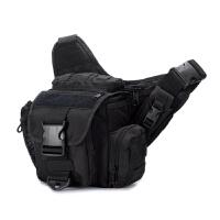 户外机动鞍袋斜挎包摄影包男女单肩包军迷包单反相机包 ACU/ 送2魔术贴