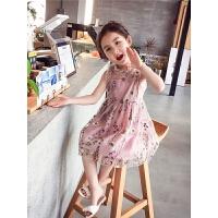 女童连衣裙 夏装新款韩版儿童公主裙中大童洋气蕾丝背心裙子