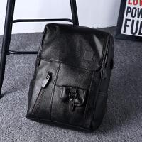 双肩包男 新款商务包男士旅行背包女休闲皮质大容量电脑学生书包