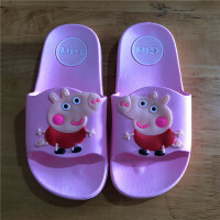 小猪吃水果儿童拖鞋男童女童凉拖夏防滑厚底居家透气浴室一字 粉色 小猪佩奇