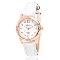 韩版潮流时尚女士手表 镶钻学生手表 皮带钻表 石英腕表