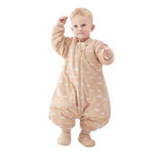 欧孕新生儿分腿儿童0-3-12个月婴儿宝宝睡袋春秋防踢被蚕丝