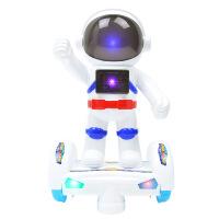 灯光音乐万向电动机器人模型 360度旋转太空飞人儿童玩具 图片色