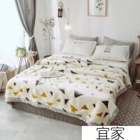 床单毛绒毯毛毯被子加厚冬季保暖单人床宿舍学生拉舍尔毯子双层绒床单毛绒毯 200*230CM 7斤