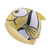 小鱼儿童泳帽男童女童护耳游泳帽动物鱼形硅胶帽