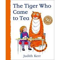 老虎来喝下午茶 英文原版 The Tiger Who Came to Tea 纸板书 儿童趣味故事绘