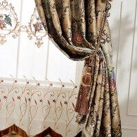 欧式窗帘卧室飘窗遮光隔热成品窗帘落地客厅大气纱窗帘窗纱窗帘布