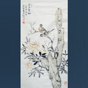 清华美院   冯维智  碧玉双栖   /215