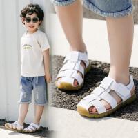 童鞋儿童凉鞋男孩男童鞋软底夏季宝宝鞋子防滑真皮中大童2019新款